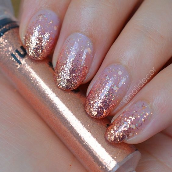 Oval shaped nails designs