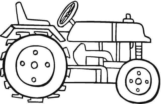 coloriage tracteur pour enfants