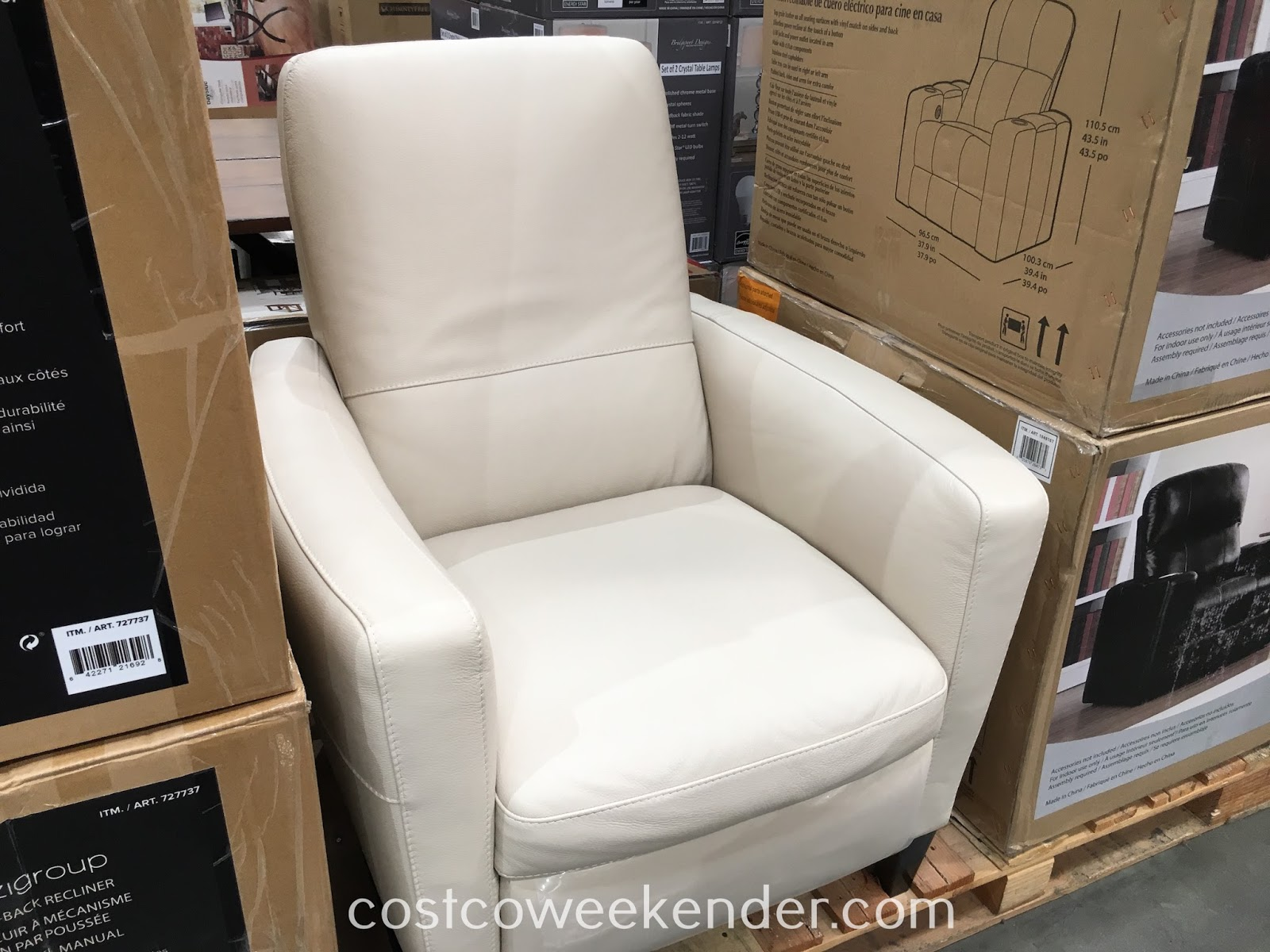 Costco Recliner Chair Natuzzi Group Leather Push Back Recliner Chair Costco