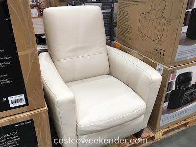 Costco 727737 - Natuzzi Group Leather Push-back Recliner - Contemporary design makes for a great accent chair