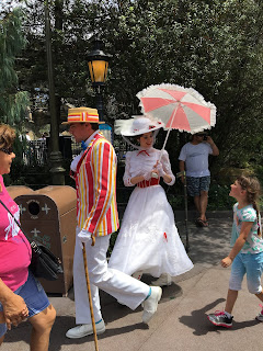 Mary Poppins and Bert in Fantasyland Disneyland