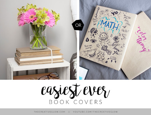 Easiest Book Covers EVER - For School OR Home Decor