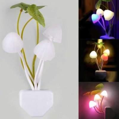 Lampu Mini Mushroom LED Unik dengan Auto Sensor Cahaya