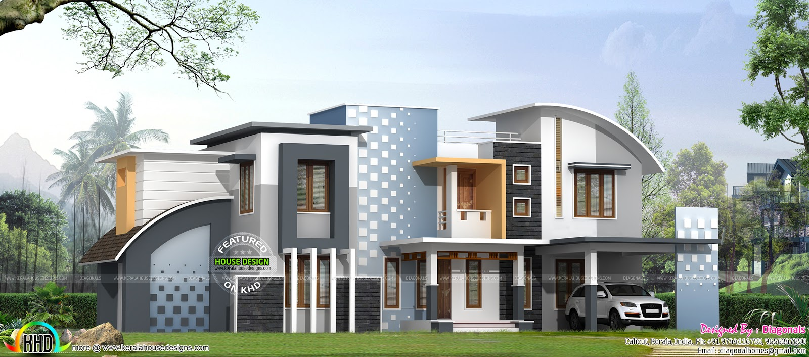 April 2016 kerala home design and floor plans for Modern house 40