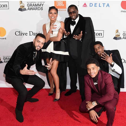 Diddy-Cassie-Clive-Davis-Pre-Grammy-party-3
