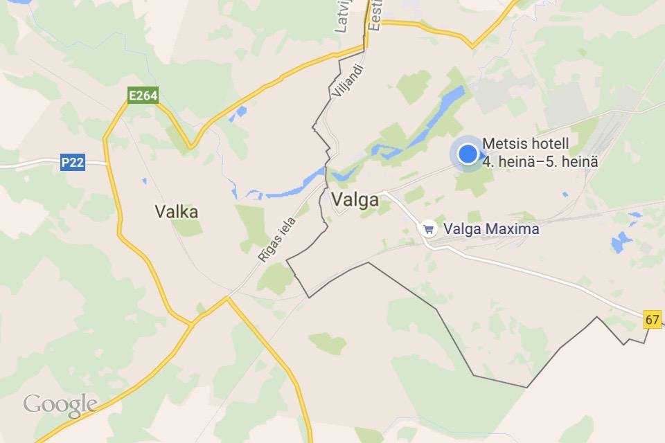 Lahinna Kauempana Viron Kaksoiskaupunki Valga Valka Latvian