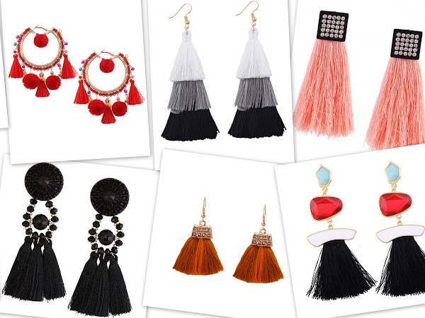 Currently obsessing over.. tassel earrings