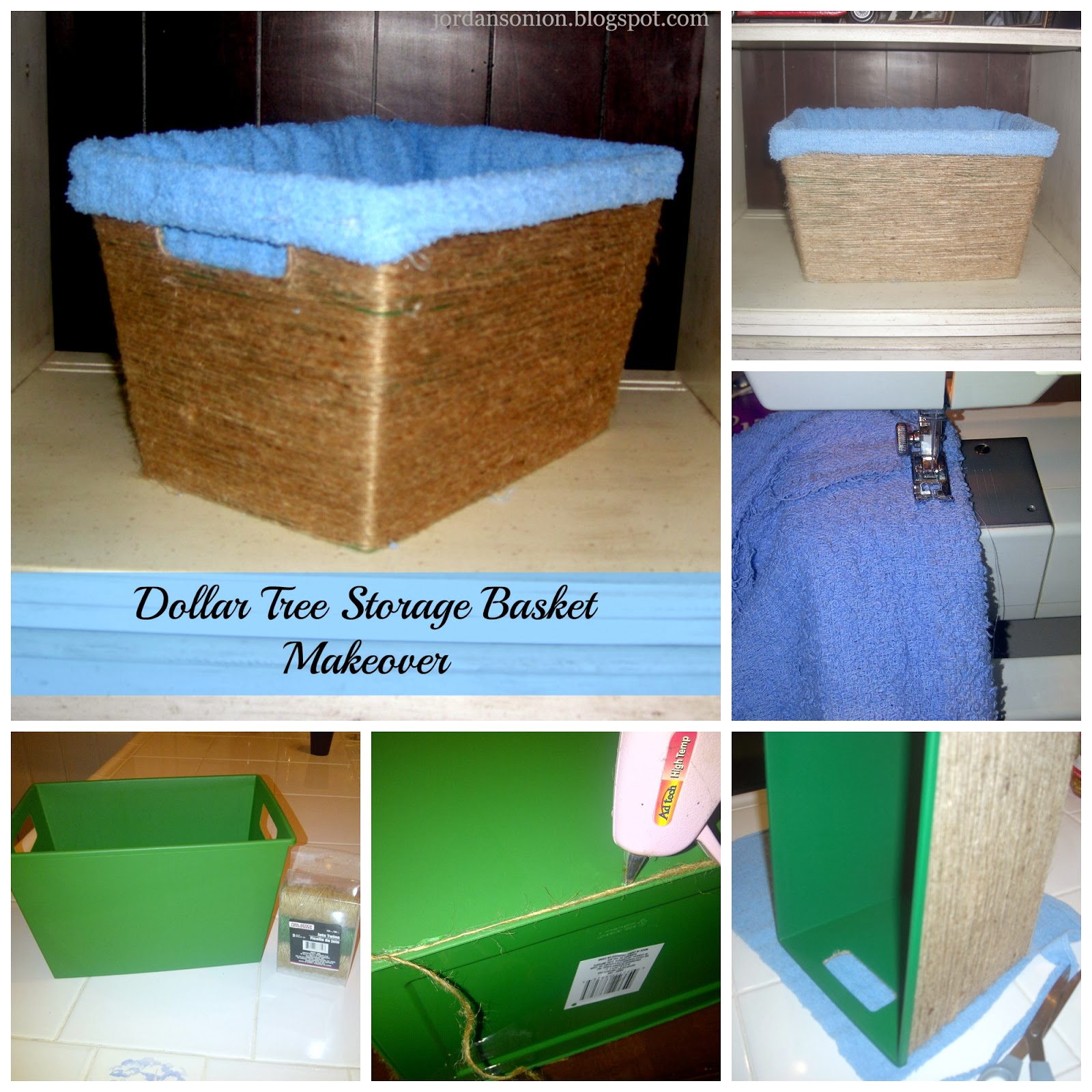 Dollar Tree Storage Basket Makeover