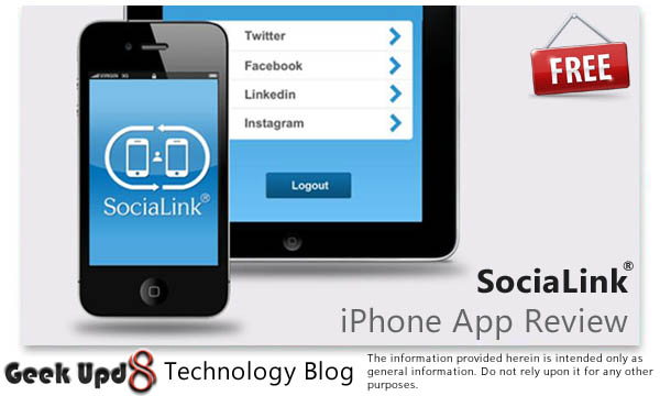 SociaLink : Free iPhone App to Connect & Update your Social Media Instantly