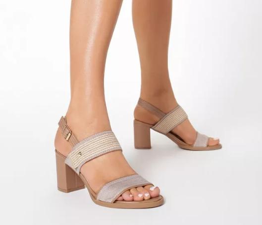 Sandal cu toc gros roz de vara ieftine frumoase de purtat cu rochite