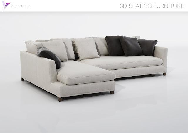 [3D Model Free] 23 Seating Furniture set 3