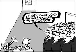 Viñeta de humor de Forges sobre el despido masivo
