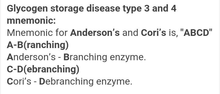 Biochemistry mnenomics glycogen storage disease