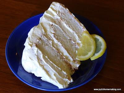 Icebox Lemon Angel Food Cake