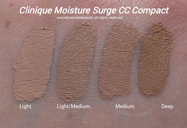 Clinique Moisture Surge CC Compact; Review & Swatches of Shades