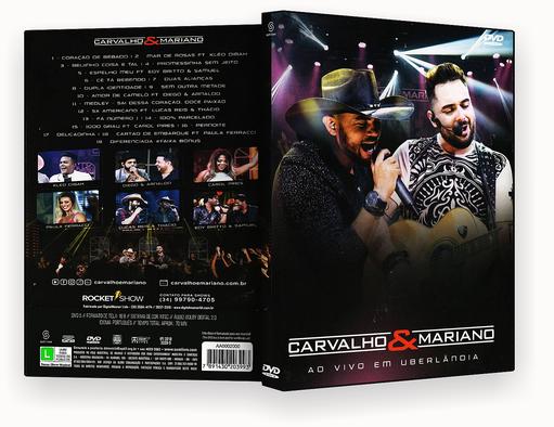 CAPA DVD – Carvalho & Mariano Ao Vivo Em Uberlândia DVD-R