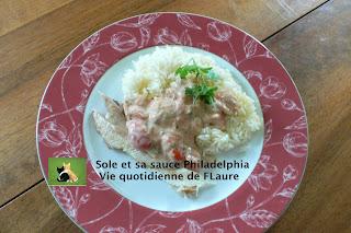 Vie quotidienne de FLaure: Sole et sa sauce Philadelphia