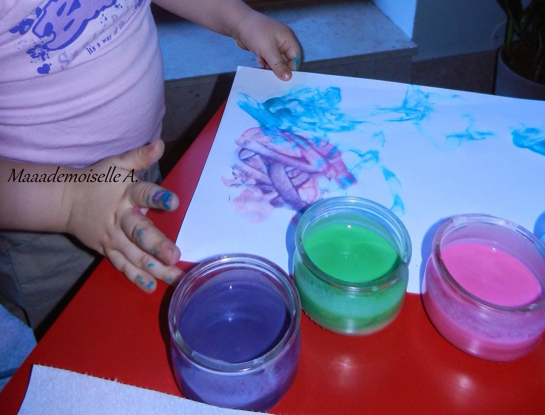 Maaademoiselle a activit diy peinture comestible maison pour enfant et b b recette et for Peintures maison
