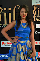 Madhu Shalini Looks Super Cute Slim trim Blue Choli Ghagra IIFA Utsavam Awards 10.JPG