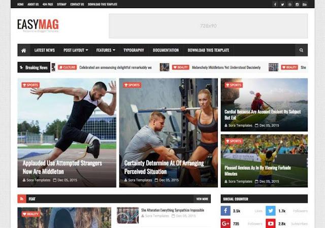 Easy Mag Blogger Theme