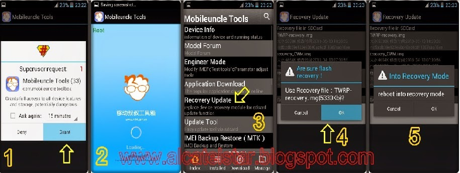 Install ClockworkMod in Mediatek device using .IMG File