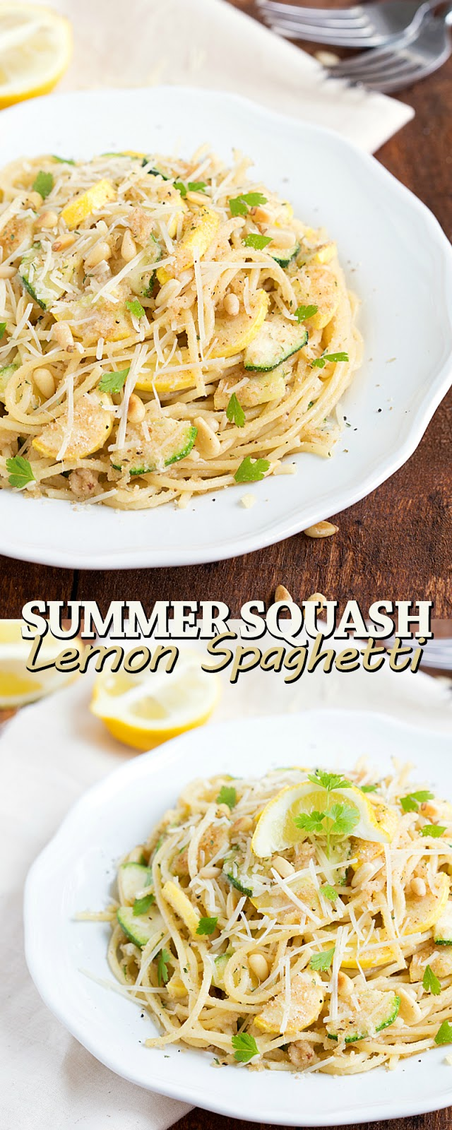 SUMMER SQUASH LEMON SPAGHETTI