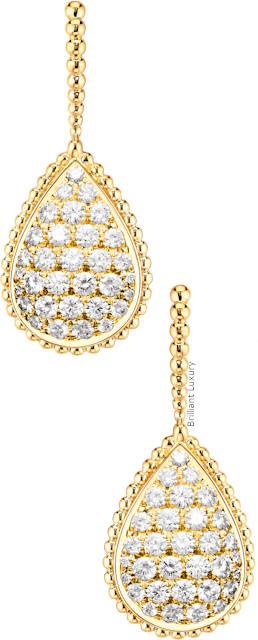 Brilliant Luxury♦Boucheron Paris Serpent Bohème sleepers earrings