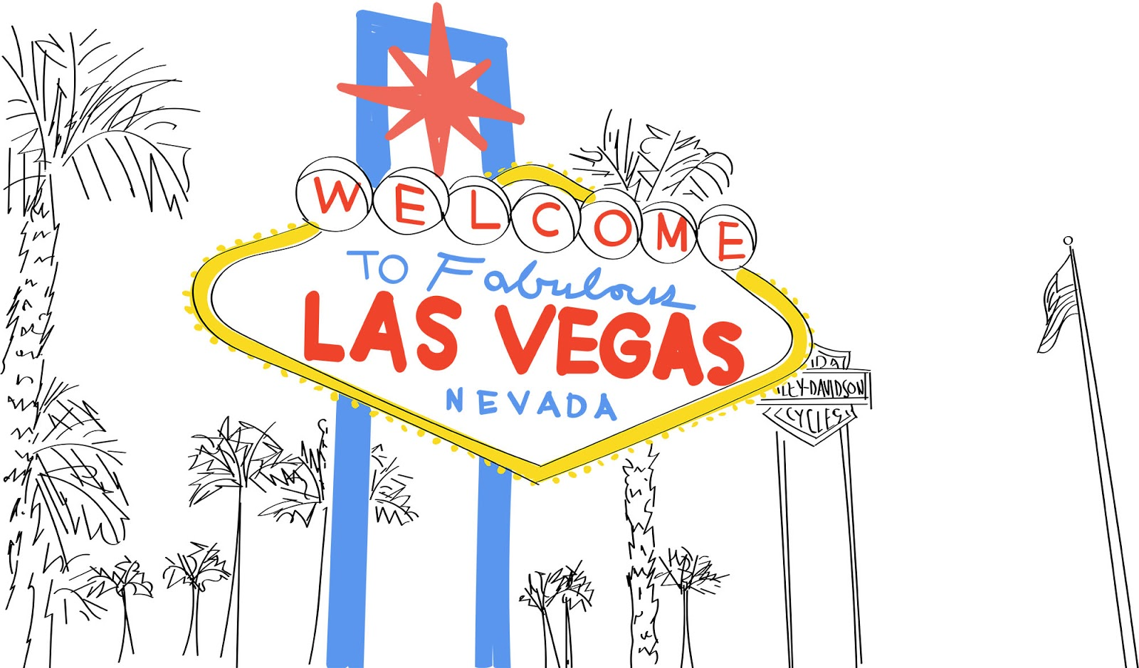 fabulous Las Vegas sign illustration