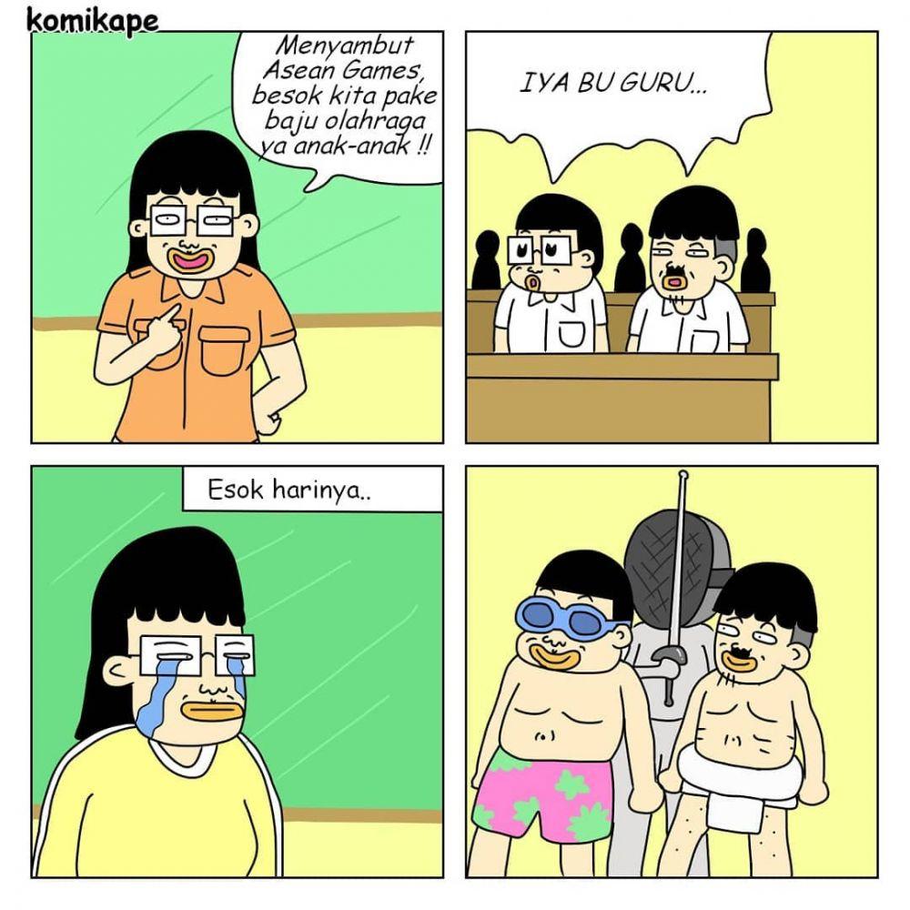 7 Komik Strip Kehidupan Guru Yang Lucu Abis Murid Bandel