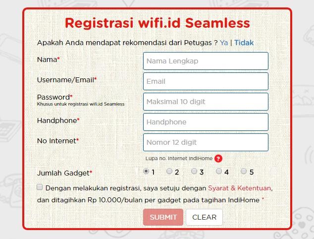 Cara Membuat Akun Wifi ID Seamless