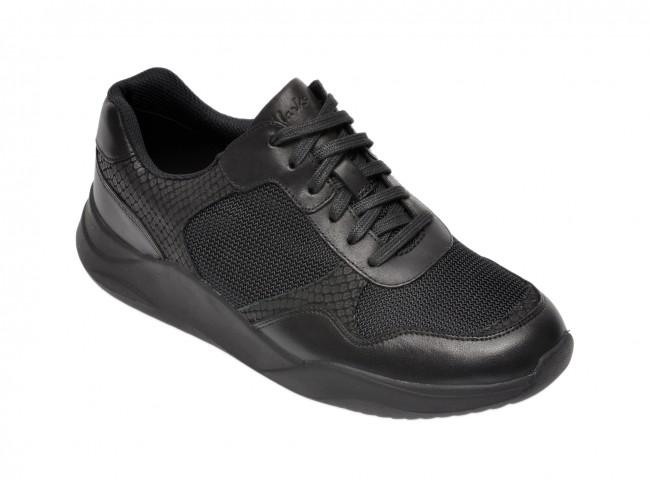 Pantofi sport femei din piele naturala CLARKS negri