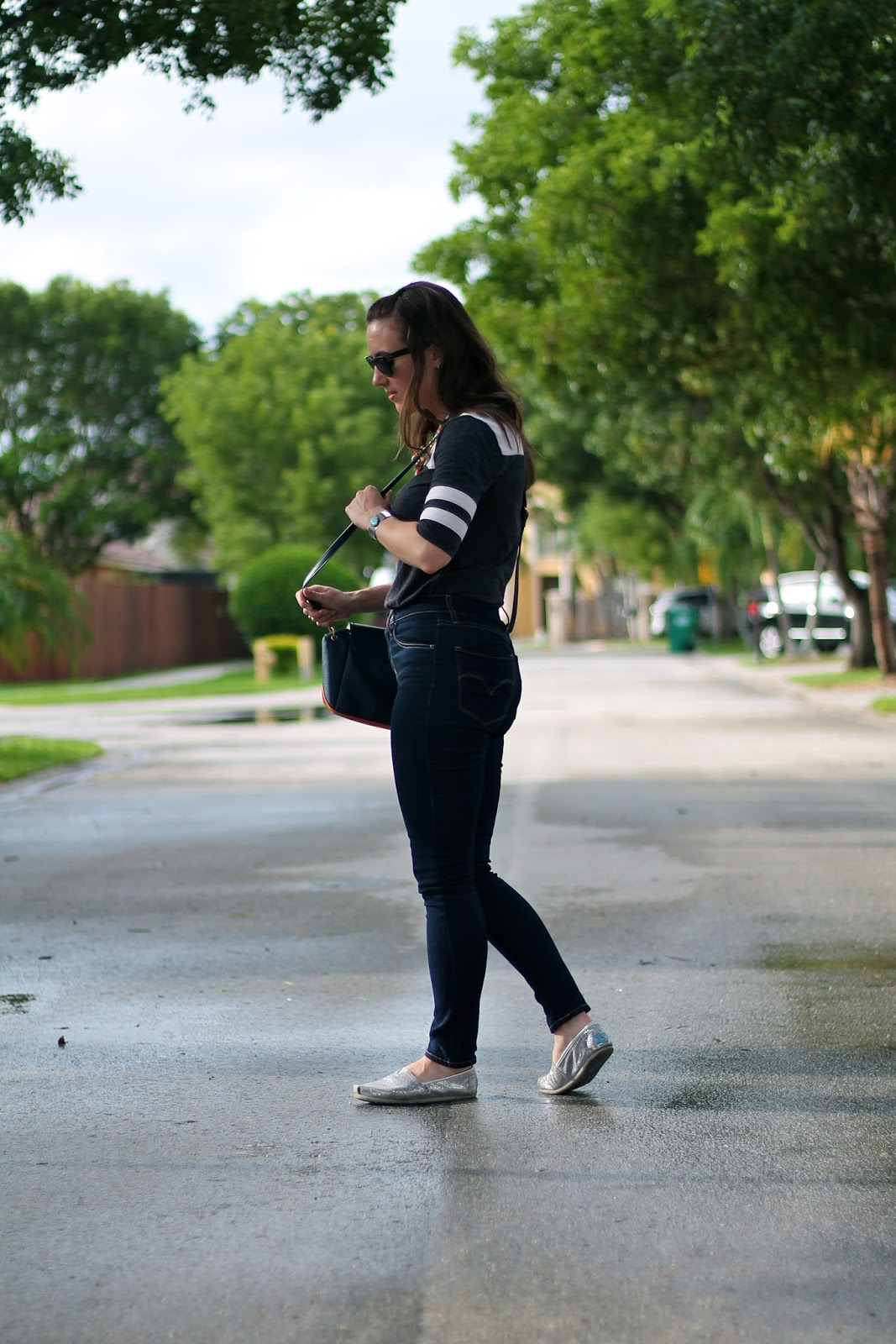 Lucky Brand, Levi's, TOMS, Charming Charlie, Ray-Ban, style blogger, fashion blogger, capsule collection, Miami fashion blogger, Miami style, high-waisted jeans, fashion, style, look book, outfit ideas, weekend wear