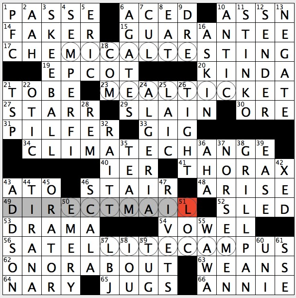 Rex Parker Does The NYT Crossword Puzzle College In Down