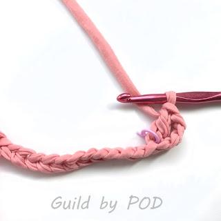 毛糸ズキ!Guild by POD TシャツヤーンSmooTeeで編むシェル風バッグの編み方A