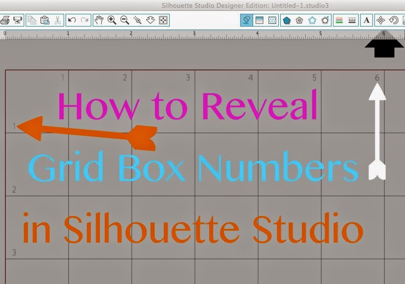 Silhouette Studio, Silhouette tutorial, grid box numbers, show, reveal