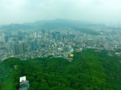View of Seoul from Namsan Seoul Tower Observatory