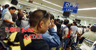 5,000 Jobs in Qatar Soon To Open with 23K to 80K Pesos Monthly