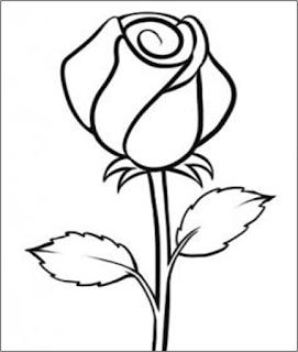 sketsa bunga: Cara Menggambar Sketsa Bunga Mawar