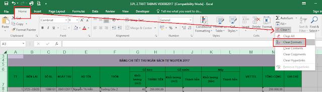 Làm thế nào để xóa mọi định dạng trên Excel 2007 2010 2013 2016