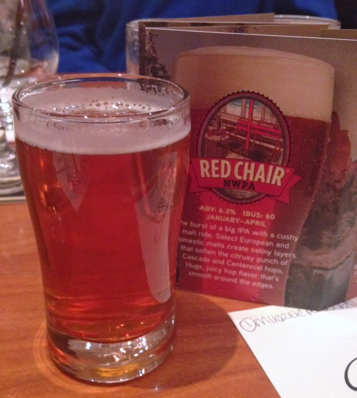 deschutes red chair nwpa beer advocate all modern office chairs restaurant and review brewery teller 39s