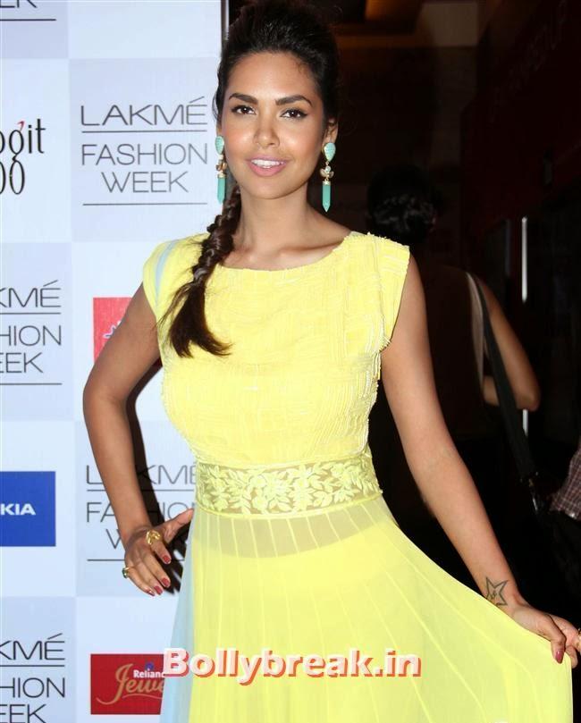 Esha Gupta, Bollywood Actresses at Manish Malhotra Show at LFW Summer Resort 2014