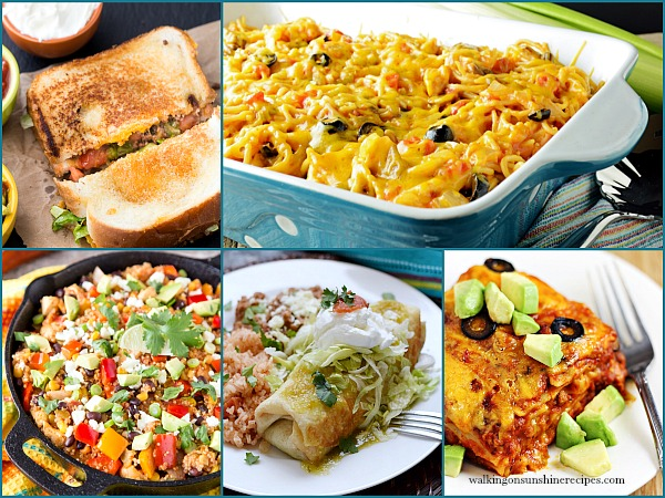 Cinco de Mayo and Mexican inspired recipes are this week's features for our Foodie Friends Friday linky party  on Walking on Sunshine.