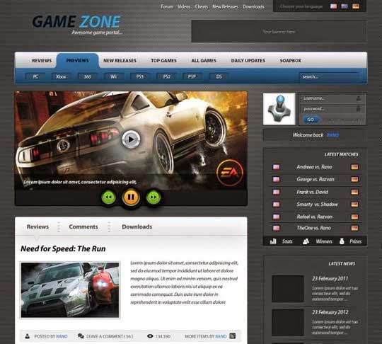 How to create an advanced Game Portal Layout