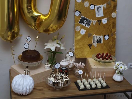 Mimosorum un 70 cumplea os en dorado - Ideas para celebrar 50 cumpleanos ...