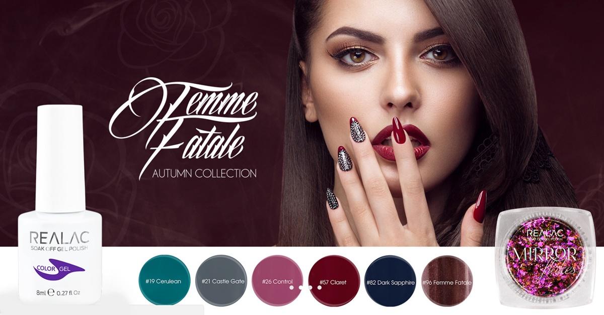 """""""Femme Fatal"""" – jesienna kolekcja lakierów hybrydowych REALAC"""