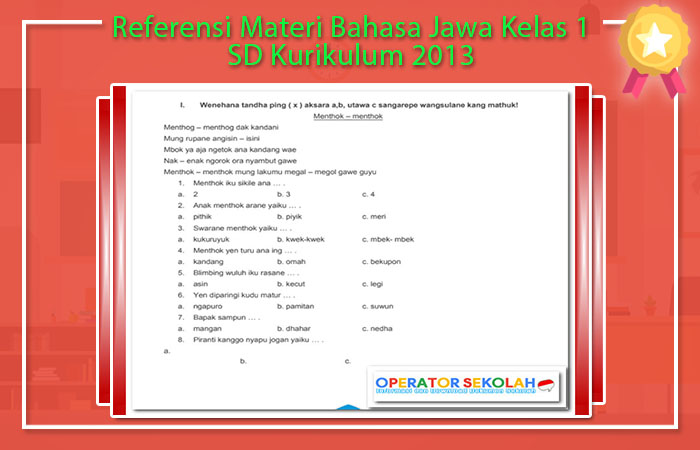 Materi Bahasa Jawa