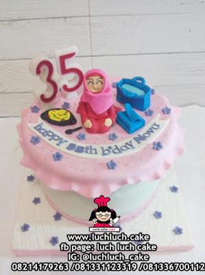 Birthday Cake Fondant Untuk Mama