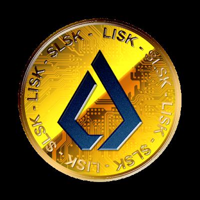Lisk / $LSK新ロゴverのフリー素材(金貨青ver)