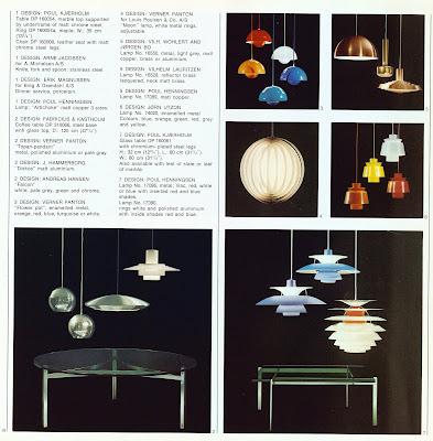 Den Permanente catalog 1972, lighting selections