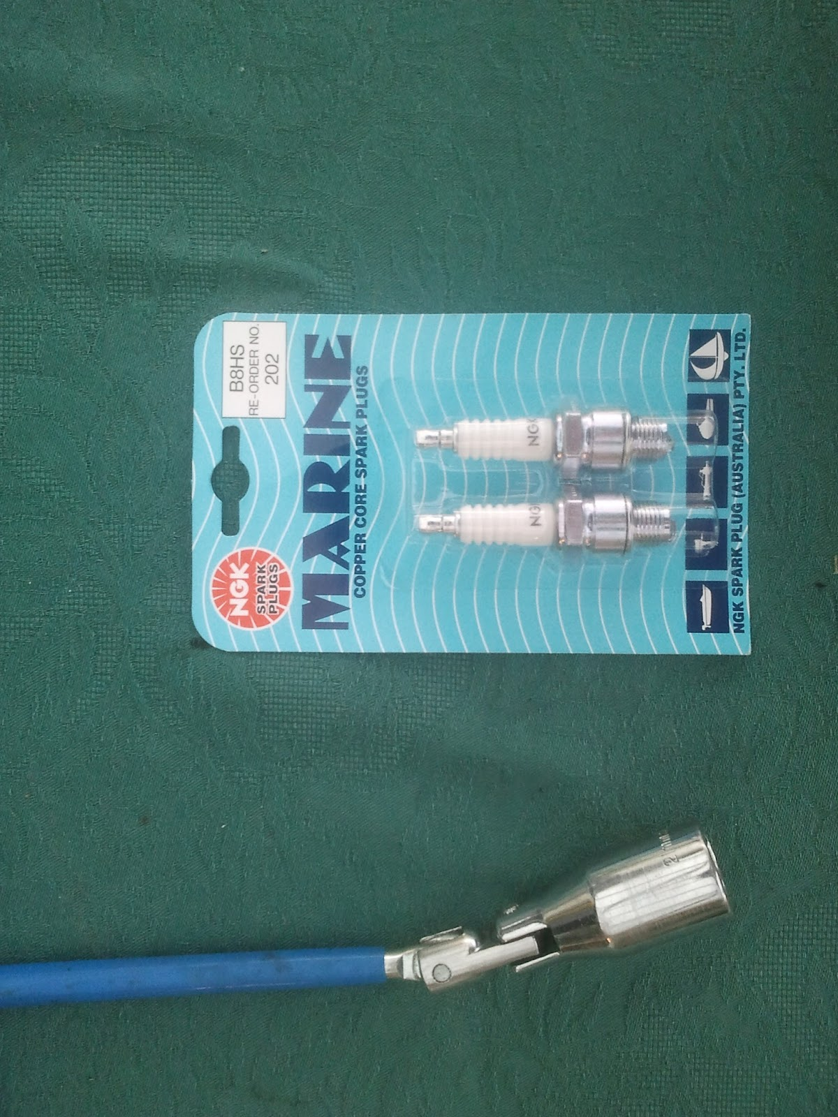 small resolution of new spark plugs b8hs for the yamaha rd 125a